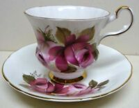 ROYAL  WINDSOR-fine bone china-SET OF CUP&SAUCER-PATTERN-GORGEOUS ROSES-VINTAGE