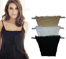 Lace Modesty Panels x 3 White,Cream & Black Clip on Bra