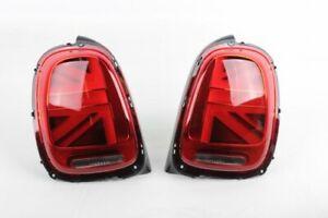 NEW OEM MINI f55 f56 f57 Facelift Union Jack UK LED Tail Light Pair SET 2462095