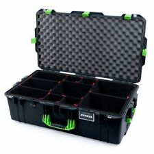 Black & Lime Green Pelican 1615 case. With TrekPak Dividers.  With wheels.