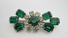 Rhinestone Glass Vintage Costume Brooches/Pins