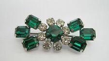 Rhinestone Glass Flowers/Plants Vintage Costume Jewellery