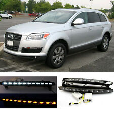 LED DRL Driving Daytime Running Day Light Turn Signal For Audi Q7 (2007-2013)