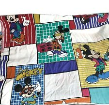 Vintage 1980s 1990s Disney Cool Mickey Mouse Flat Sheet Twin Bedding Kids