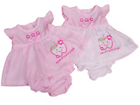 BNWT Tiny Baby Reborn Premature Preemie Baby Girls apple of mummys eye dress set