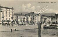 Cartolina di Intra, hotel ristorante sul lungolago - Verbania, 1912