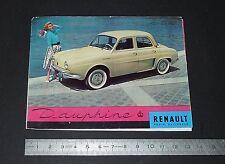 DEPLIANT BROCHURE PUBLICITE REGIE RENAULT DAUPHINE 1957 AUTOMOBILE AUTO