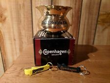Copenhagen /US Tobacco Brass Spittoon/Cuspidor in Original Box +2 Beverage Keys