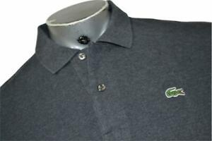 16556-a LACOSTE Polo Shirt Size XL or EUR 7 Gray Mens Adult