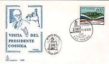 BUSTA SAN MARINO CAPITOLIUM  1990 VISITA PRESIDENTE COSSIGA  FDC