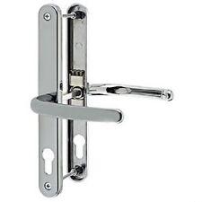 Pair 68mm Sprung Fullex Upvc Door Lever Handles - 215mm Screw - Chrome