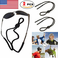 2 x Glasses Strap Neck Cord Sports Eyeglasses Band Sunglasses Rope String Holder