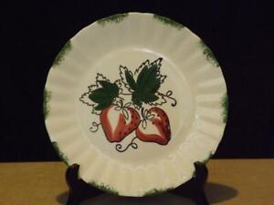 Blue Ridge Southern Potteries Strawberry Sundae Dinner Plate