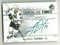 2016-17 SOTT hockey card Jonathan Toews autographed Chicago Blackhawks
