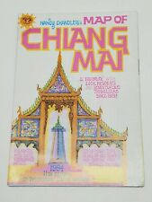 Vtg Nancy Chandler's Map of Chiang Mai 11th Edition Travel Souvenir Illustrated