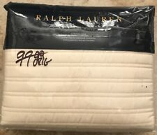 Ralph Lauren Reed Sateen Euro Quilted Sham In Hollywood Cream(1)-NIP-MSRP$145