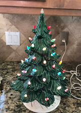 VINTAGE LARGE GREEN CERAMIC CHRISTMAS TREE