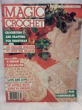 Vtg. MAGIC Crochet Magazine #44 OCTOBER 1986 Back Issue