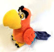 "Disney Store Iago Stuffed Plush 10"" Aladdin Parrot Bird STAMPED Rare"