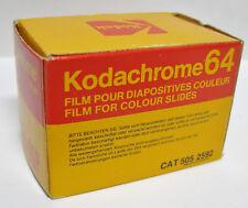 Vintage 1980s Kodak Kodachrome 64 Color Slide Film Exposures new in box KR135-36
