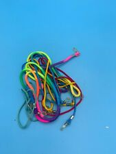 FUN VINTAGE LOT OF NEON COLOR GLASSES STRING CORD HOLDERS
