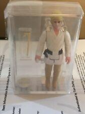 Star Wars Vintage Luke Skywalker Double Telescoping lightsaber AFA 85 1977 farm