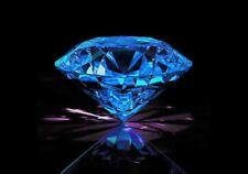 Round 8 mm 3.1 ct VVS Blue Brilliant Lab Diamond Hearts & Arrows Solitaire Gem