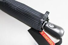 Pierre Cardin gestreifter Automatik Regenschirm Figaro schwarz/grau  100 cm Dach