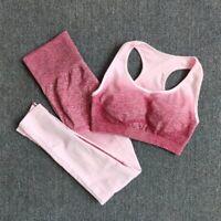 2 Piece Yoga Set Sports Bra and Leggings Women Gym Set Clothes Seamless