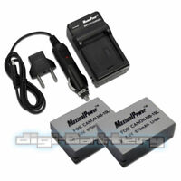 TWO BATTERIES+CHARGER Pack for CANON NB-10L PowerShot G15 G16 Camera Battery x2