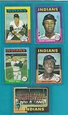 1975 TOPPS CLEVELAND INDIANS TEAM SET (26) w ROBINSON PERRY ++ *1107425  EXMT-NM