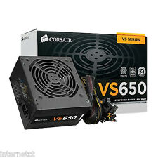 CORSAIR VS650 50 Amp SINGLE RAIL ATX Silenzioso alimentazione SATA Molex 8 Pin (4+4)