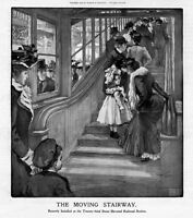 ELEVATED RAILROAD STATION AT TWENTY THIRD STREET THE MOVING STAIRWAY FASHION