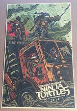 WonderCon 2016 TEENAGE MUTANT NINJA TURTLES TMNT Poster  LIMITED EDITION RARE