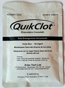 QuikClot Big Package 100g (3.5oz) Stops Bleeding Fast!