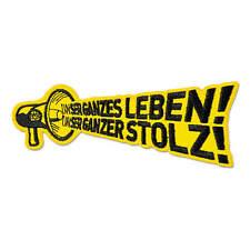 "Stickwappen Aufnäher Borussia Dortmund BVB Aufnäher /""Fußballhauptstadt/"" BVB"