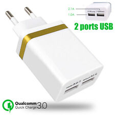 Prise Secteur Adaptateur USB 2Ports Chargeur Universel iPhone,Samsung, Huawei