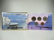 *** NORVEGIA CORONE KMS 2000 Coin Set Norway CORSO set di monete non monete metalliche in euro **