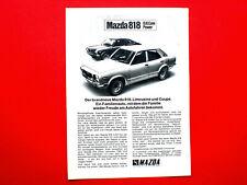 1972 Werbung aus Zeitschrift  Autohersteller MAZDA 818 Motiv 1