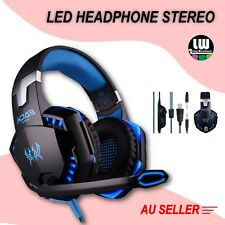 3.5mm Gaming Headset Mic Blue LED Headphones Stereo for Laptop PS3 PS4 Xbox one