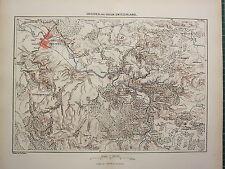 c1890 ANTIQUE MAP ~ DRESDEN & SAXON SWITZERLAND