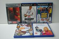 PS2 5 Game Bundle - Playstation 2 Sony Rugby, Spiderman, High School Musical +2