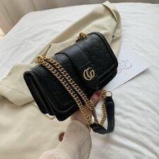 GUCCI Women Small Leather CROSS BODY Tessen Mini Bag Beloved GG Gold Logo Made i
