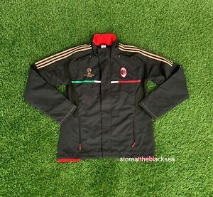 AC MILAN 2011 2012 FOOTBALL SOCCER JACKET COAT TRAINING ADIDAS MEN L