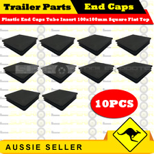 10 x Superior Plastic End Caps Tube Insert 100x100mm Square Flat Top