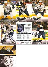 2008-09 UD Fleer Ultra Nashville Predators Master Team Set w/ RC's (7)