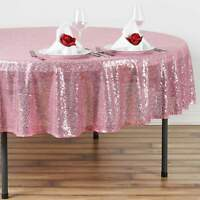 90 in. Round Duchess Sequin on Mesh Tablecloth Wedding/Party/Banquet