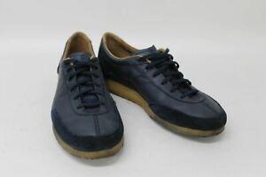 CLARKS ORIGINALS Men's Navy Blue Leather Suede Torcourt Plimsolls UK8 EU42
