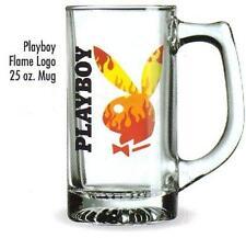 PLAYBOY Magazine Licensed Brand BUNNY FLAME LOGO 25 oz JUMBO BEER STEIN MUG New