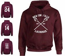 Felpa BEACON HILLS LACROSSE STILINSKI 24 Teen wolf bordeaux maglietta t-shirt